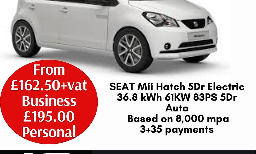 SEAT Mii Hatch 5Dr Electric 36.8 kWh 61KW 83PS 5Dr Auto