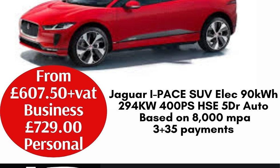 Jaguar I-PACE SUV Elec 90kWh 294KW 400PS HSE 5Dr Auto
