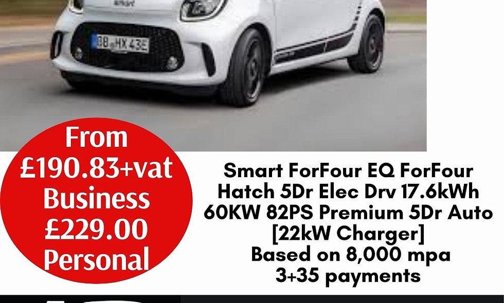 Smart ForFour EQ ForFour Hatch 5Dr Elec Drv 17.6kWh 60KW 82PS Premium 5Dr Auto [