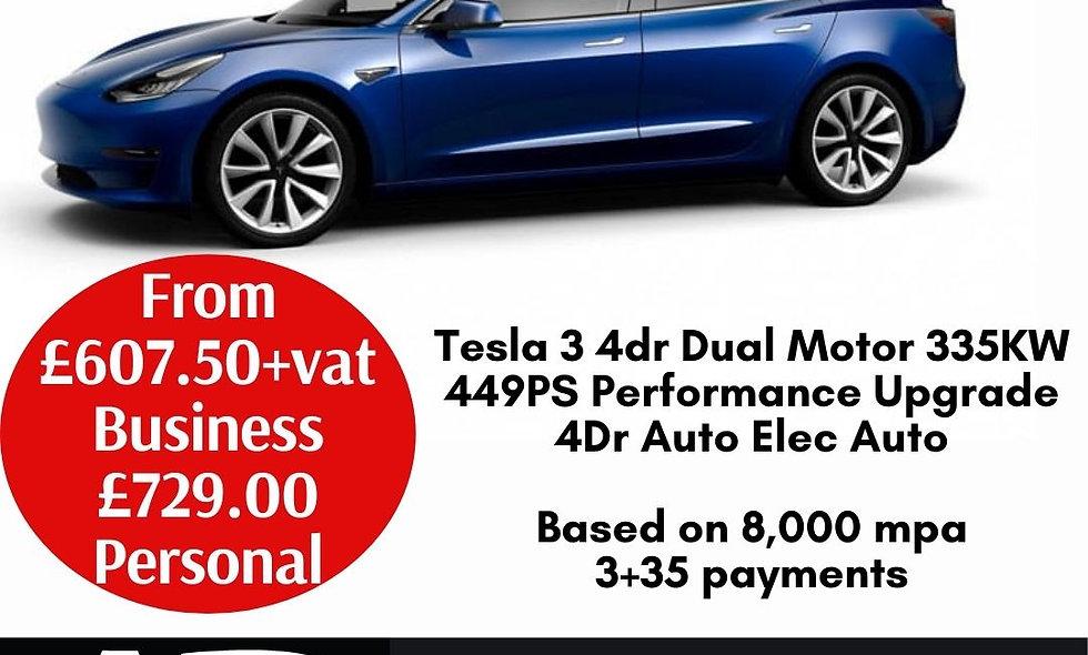 Tesla 3 4dr Dual Motor 335KW 449PS Performance Upgrade 4Dr Auto Elec Auto
