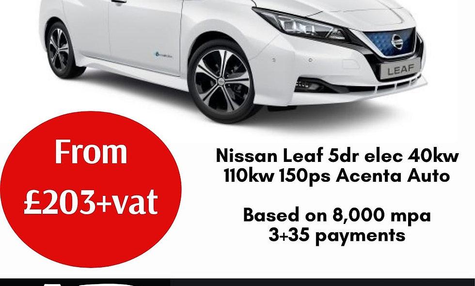 Nissan Leaf 40kw 110kw 150ps Acenta 5dr Auto