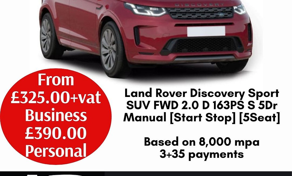 Land Rover Discovery Sport SUV FWD 2.0 D 163PS S 5Dr Manual [Start Stop] [5Seat]