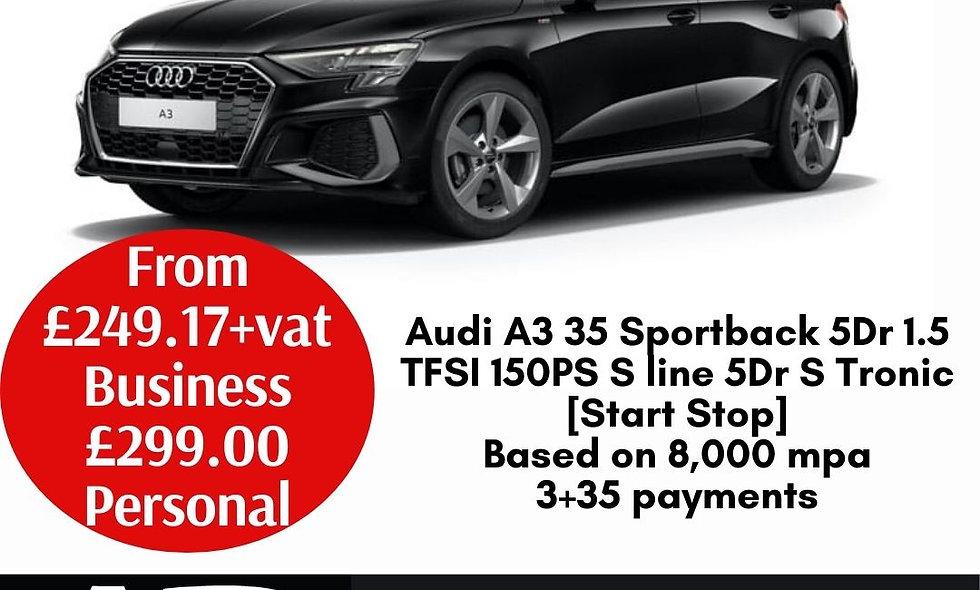 Audi A3 35 Sportback 5Dr 1.5 TFSI 150PS S line 5Dr S Tronic [Start Stop]