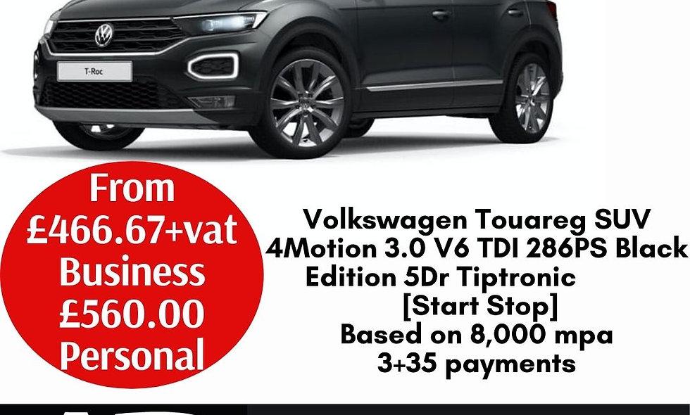 Volkswagen Touareg SUV 4Motion 3.0 V6 TDI 286PS Black Edition 5Dr Tiptronic [Sta