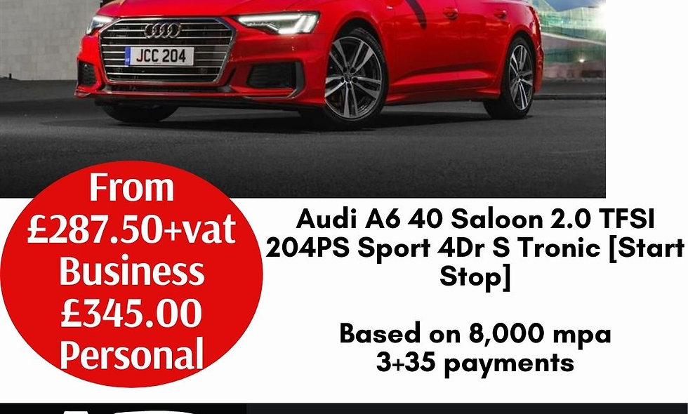 Audi A6 40 Saloon 2.0 TFSI 204PS Sport 4Dr S Tronic [Start Stop]