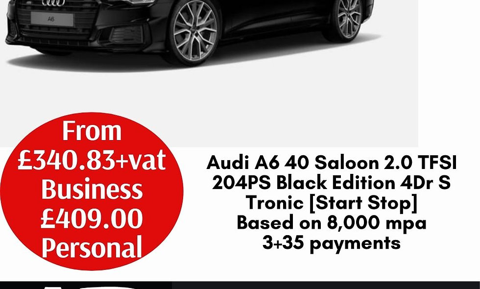 Audi A6 40 Saloon 2.0 TFSI 204PS Black Edition 4Dr S Tronic [Start Stop]