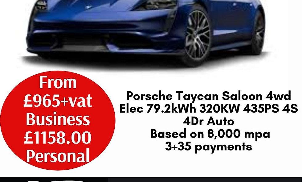 Porsche Taycan Saloon 4wd Elec 79.2kWh 320KW 435PS 4S 4Dr Auto