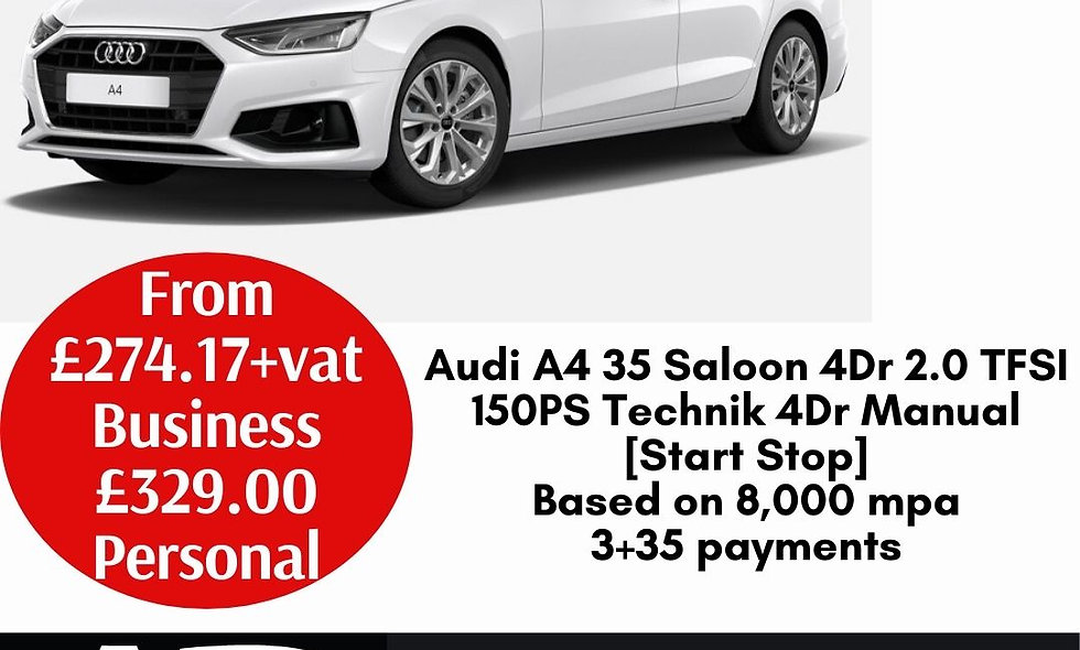 Audi A4 35 Saloon 4Dr 2.0 TFSI 150PS Technik 4Dr Manual [Start Stop]