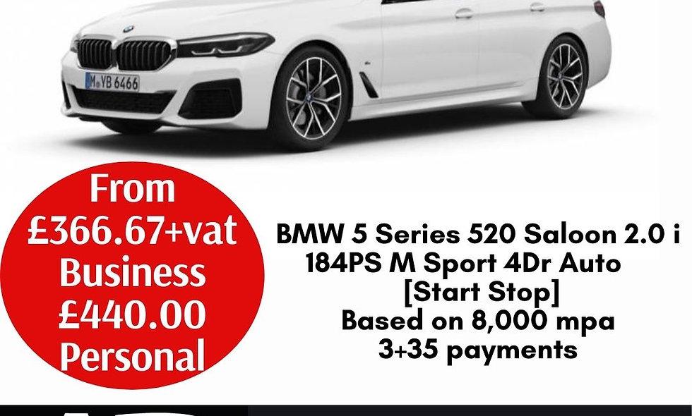 BMW 5 Series 520 Saloon 2.0 i 184PS M Sport 4Dr Auto [Start Stop]