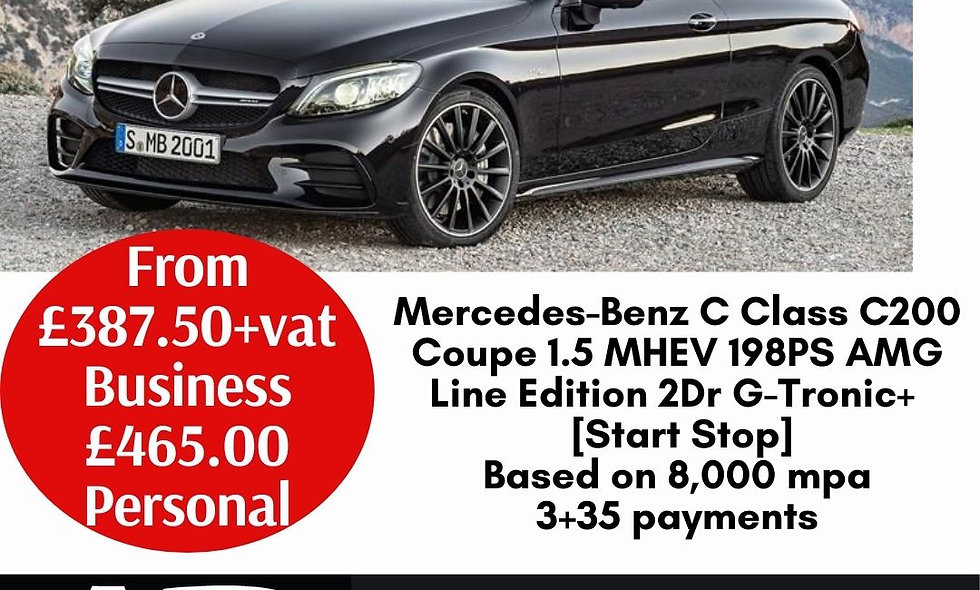 Mercedes-Benz C Class C200 Coupe 1.5 MHEV 198PS AMG Line Edition 2Dr G-Tronic+ [