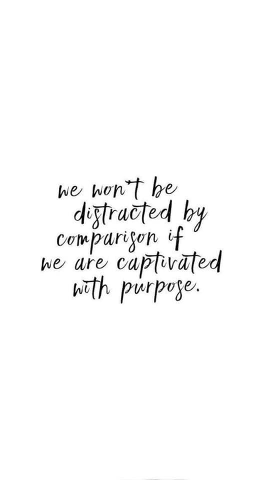 Comparison is a Thief
