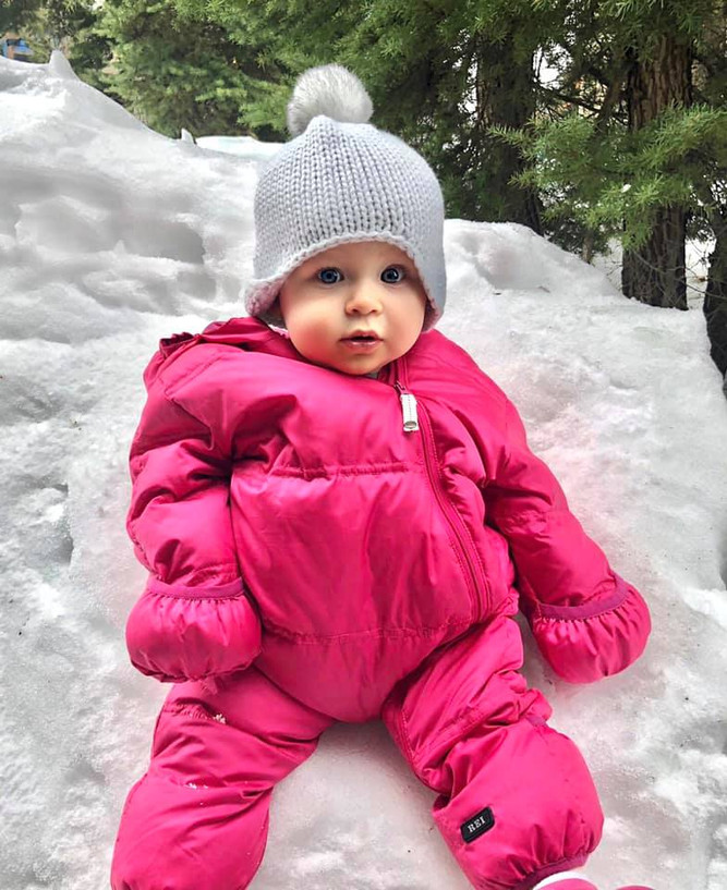 Emery's First Snow Day