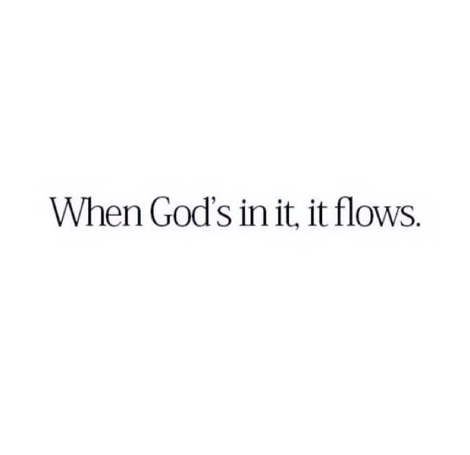 When God's in it...