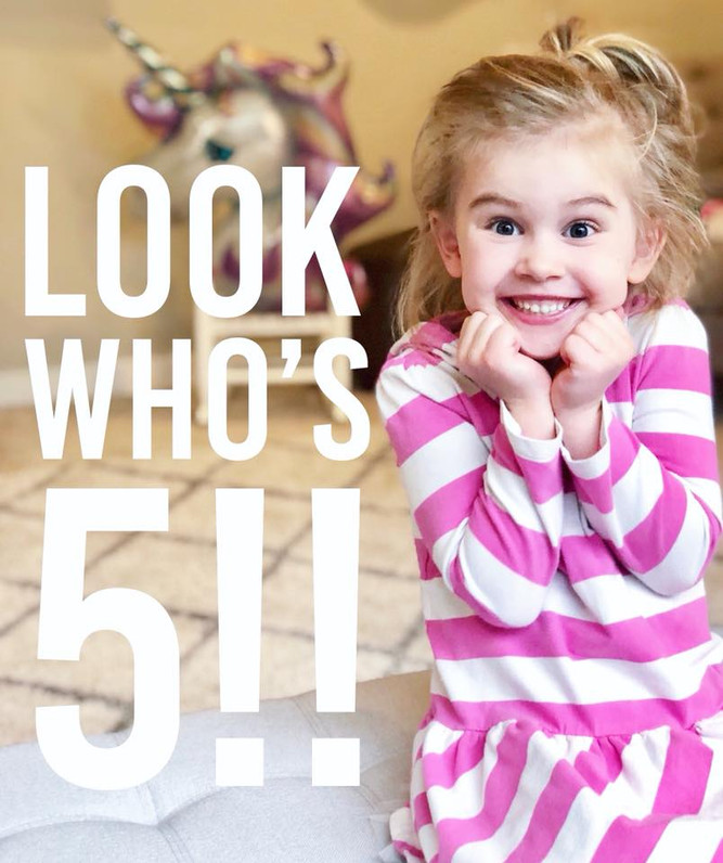 Look who is 5!