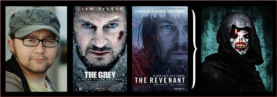 Graphic for Chattering with Gavin Robertson, includes posters for The Grey and The Revenant