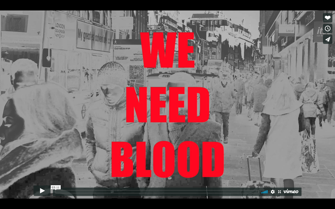 We Need Blood