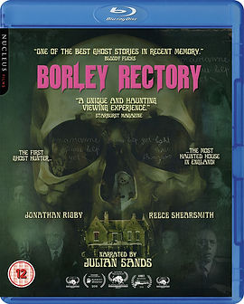 Poster for Borley Rectory featuring images of house, skull and ghostly nun.