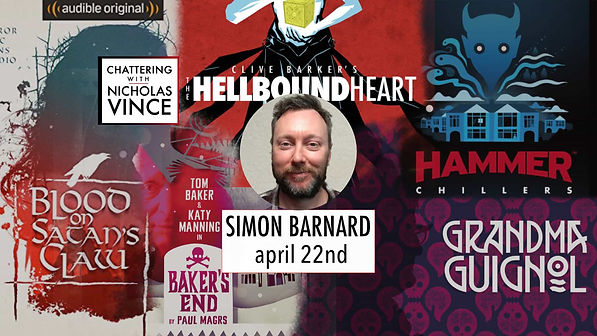 Graphic for Chattering with Simon Barnard