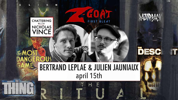 Graphic for Chattering with Bertand Leplae and Julien Jauniaux