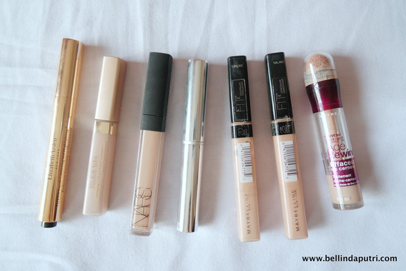 Concealers Review (NARS, Elizabeth Arden, Maybelline, The Body Shop)