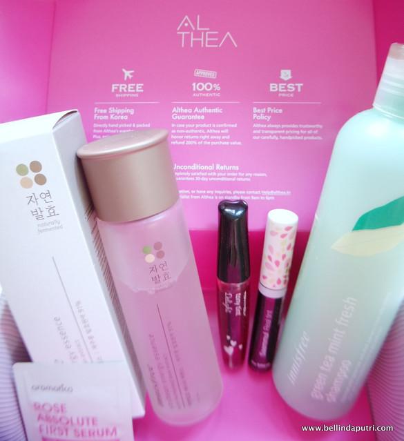 REVIEW Althea Korea Goodies (Innisfree, Tony Moly, The Saem, aromatica)