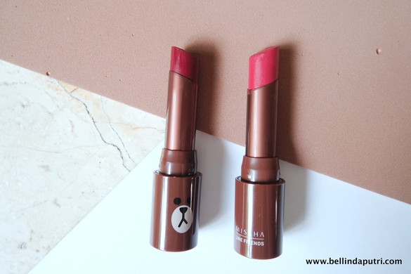 REVIEW Missha x Line Lip Matte Rouge (Bloody Wine & Salsa Red)