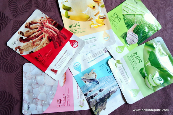 REVIEW Esfolio Sheet Masks All Variants