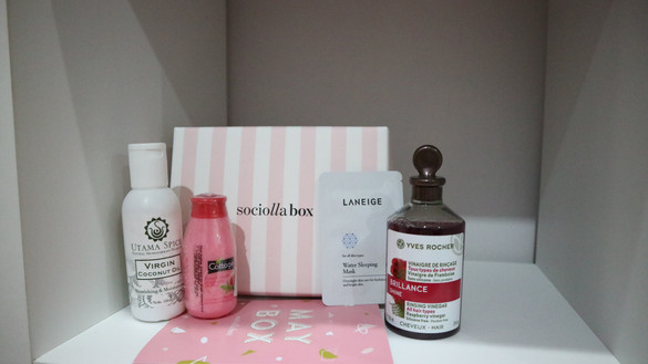 REVIEW Sociolla Box May (Yves Rocher, Utama Spice, Laneige, Cottage)