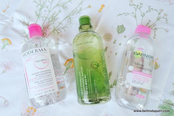Micellar Water Battle: Bioderma vs Nature Republic vs Garnier