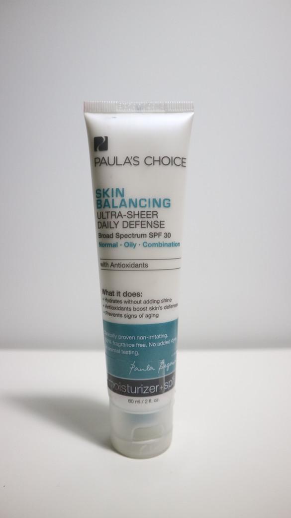 REVIEW Paula's Choice Skin Balancing Ultra Sheer Daily Defense Broad Spectrum SPF30