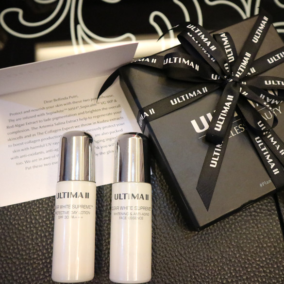 REVIEW ULTIMA II Clear White Supreme (Brightening & Anti-­‐Aging Face Essence and Protective Day
