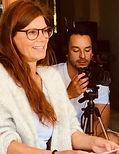 Iris Baumüller giving an Acting Workshop