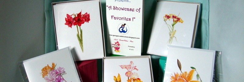 8 Box of NOTE CARDS (2 designs/4 each)
