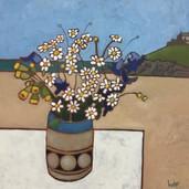 Daisies and Bluebells, Porthmeor