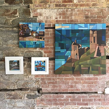 An exhibition at Enys Gardens, Penryn (near Falmouth), Cornwall. Cubist inspired landscape and seascape paintings looking at the history and heritage of Cornwall.