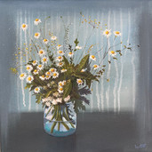 Daisies in Glass Jar