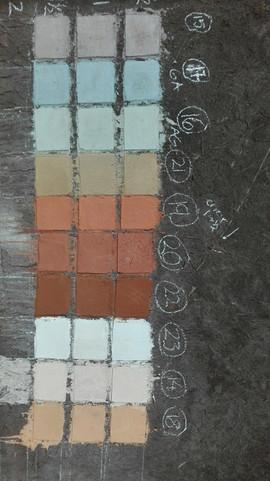 Pruebas de colores para el Mural