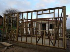 Estructura madera en obra