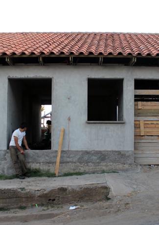 Fachada en construcción