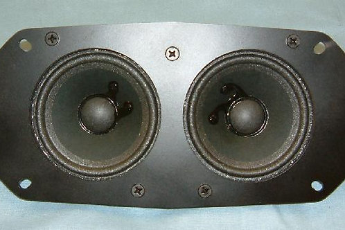 "Stereo 4"" x 10"" Oval Dual 3 1/2"" Speakers"