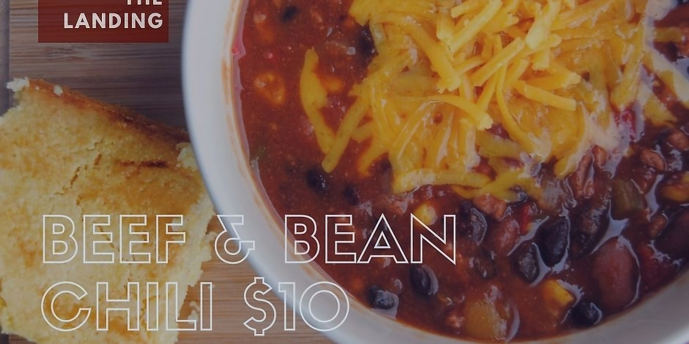 Soup to go @ The Landing - Beef & Bean Chili