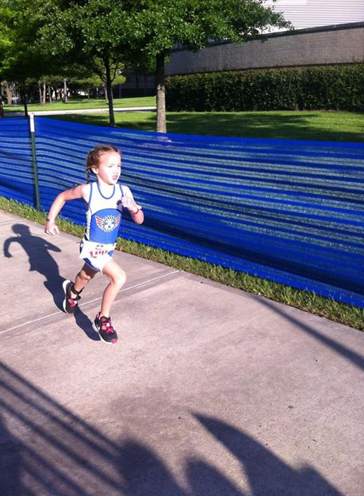 Taylor (5) sprinting to the finish