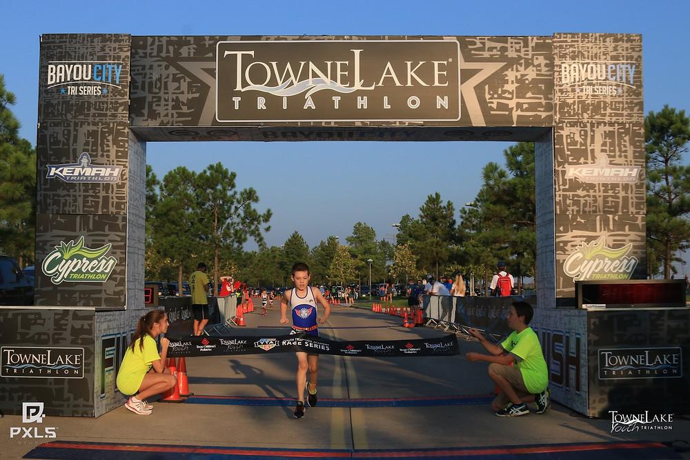 Hayden finishing Towne Lake