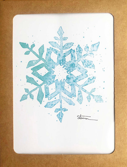 Snowflakes Blank Note Cards