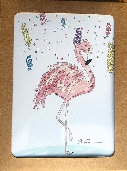 Celebration Flamingos Blank Note Cards
