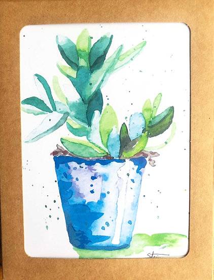 Succulents Blank Note Cards