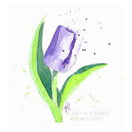 purple tulip print