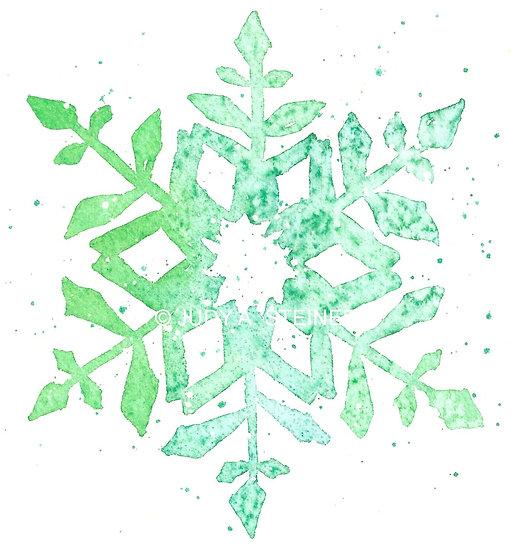 Framed Print 507-18 Snowflake