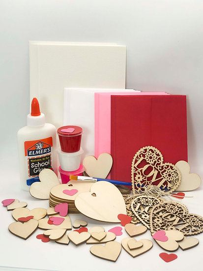 Valentine's Day Wooden Heart Card Craft Kit