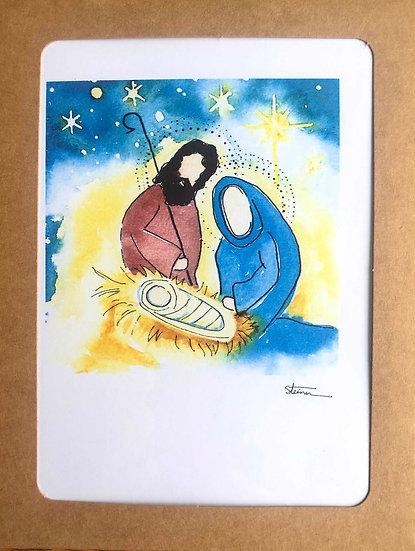Nativity Blank Note Cards